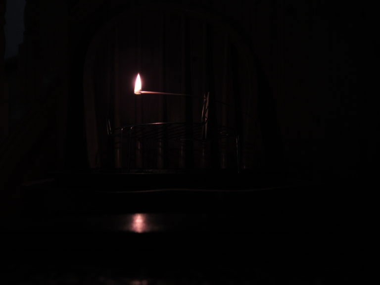 Photo of single reed rush light