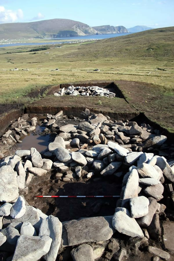 Hut excavation at Slievemore, Achill Island