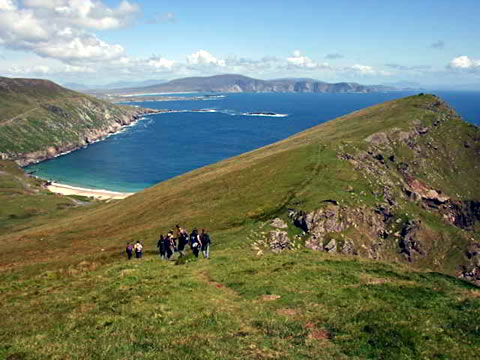 Field trip at Keem Bay, Achill Island