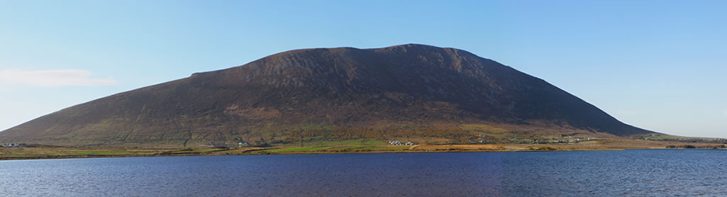 Keel lake with Slievemore mountain in background