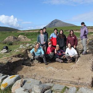 Archaeology students at dig site, Achill Island