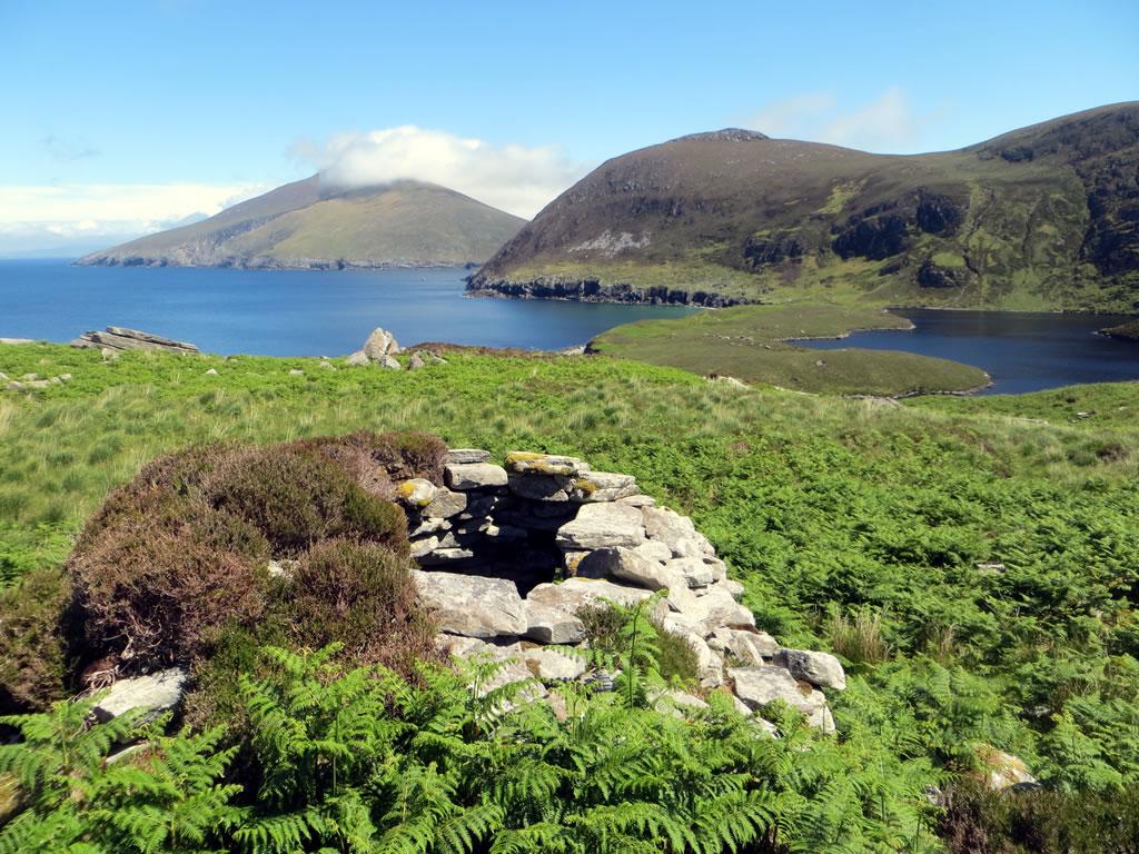 Stone booley hut at Annagh, Achill Island