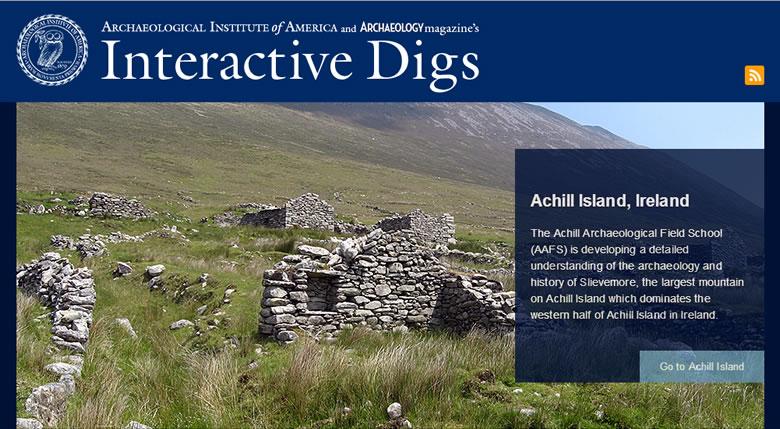 Screenshot of Interactive Dig website