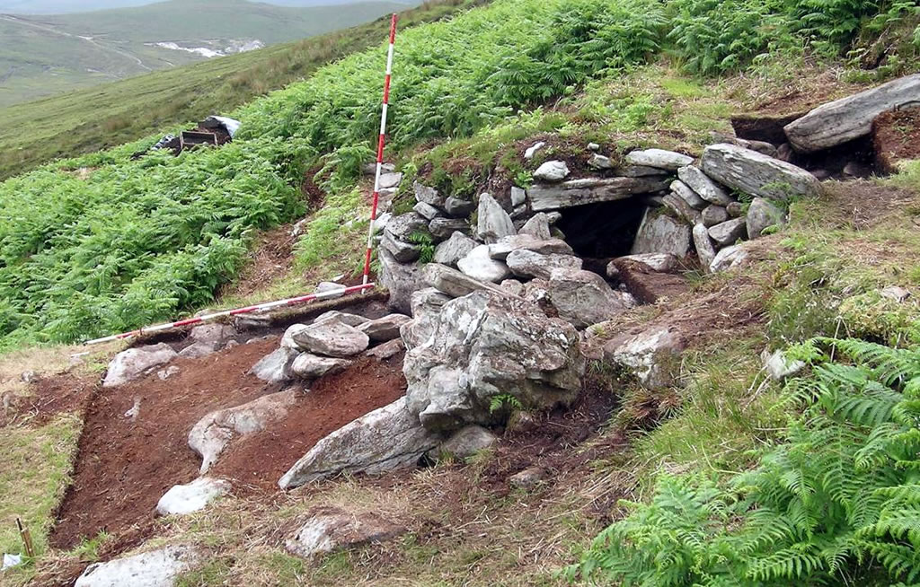 Hut site 3 on the upper slopes of Slievemore